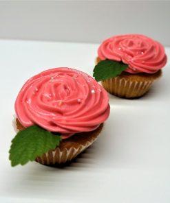 Cupcake červená ruža