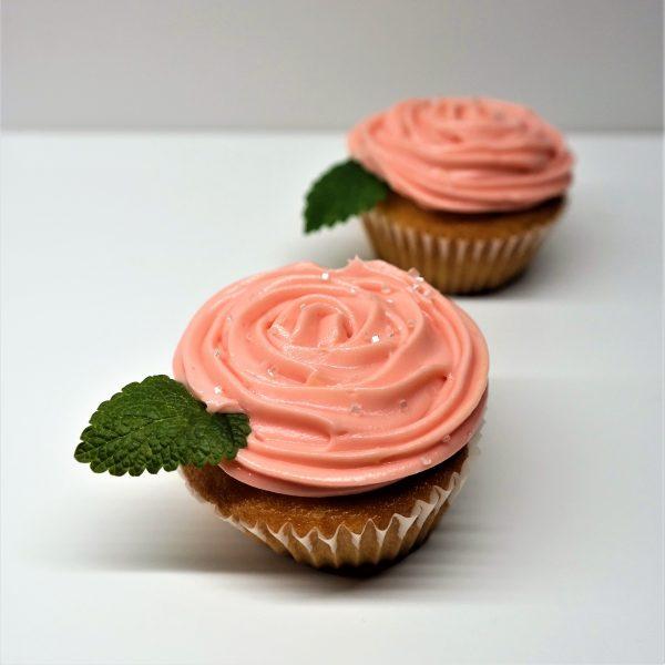 Cupcake ružička rúžový