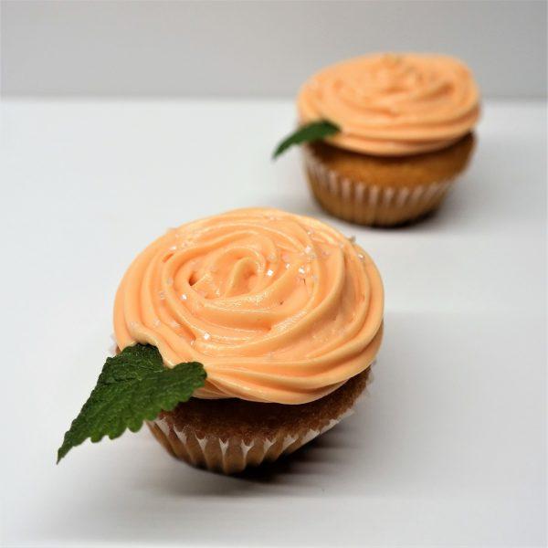 Cupcake ružička oranžový