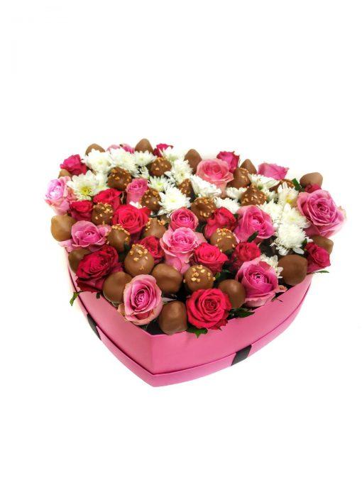 """Luxusný box z ruží a jahôd """"Klaudia"""" - 4 veľkosť"""