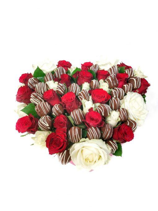"""Luxusný box z ruží a jahôd """"Peťka"""" - 4 veľkosť"""