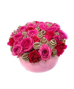 """Luxusný box z ruží a jahôd """"Soňa"""""""