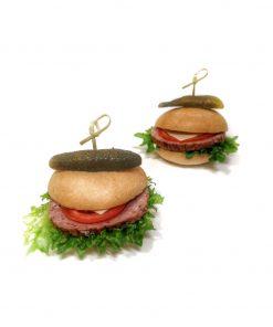 Mini burger klasik s double omáčkou od FRESH SNACK TRenčín