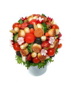 Syrovo masová kytica so zeleninou od FRESH SNACK Trenčín