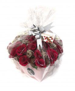 Luxusný box Klaudia ruže a jahody od FRESH SNACK Trenčín