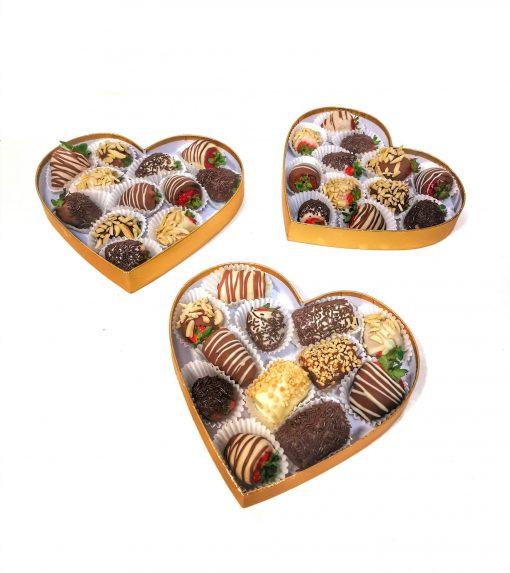 Luxusný ovocný set 15ks srdce
